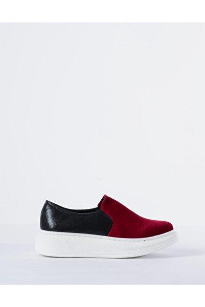 Vision Kadın Kırmızı Süet Detaylı Spor Ayakkabı