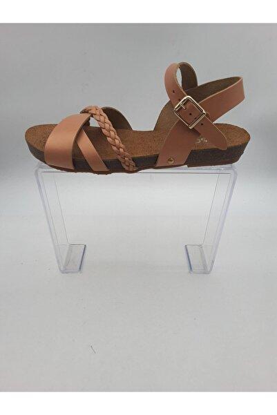 Oscar Kadın Pudra Içi Dışı Hakiki Deri Sandalet