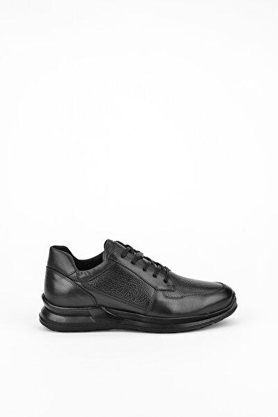 Uniquer Erkek Siyah Hakiki Deri Ayakkabı