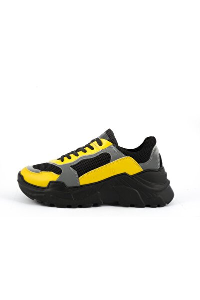 BALMAIN Erkek Siyah Sarı Spor Ayakkabı