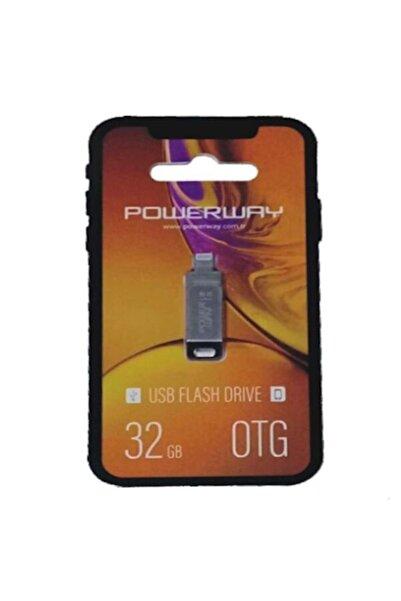 POWERWAY 32 Gb Iphone Usb 2.0 Otg Metal Flash Bellek
