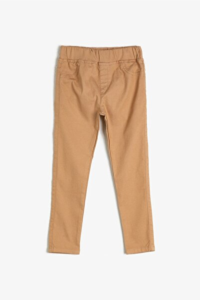 Koton Kids Bej Kız Çocuk Pantolon