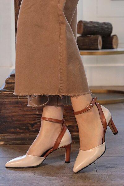Luna Ten Rengi Topuklu Ayakkabı