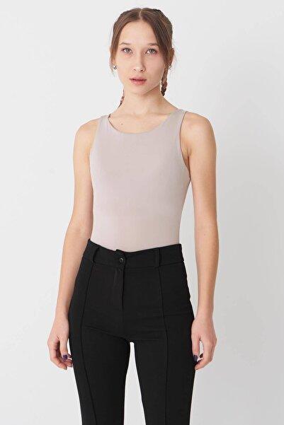 Addax Kadın Taş Kalın Askılı Bodysuit B11004 - İ10 Adx-0000022054