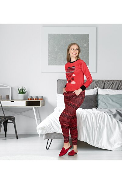 Jiber Kadın Kırmızı Eşofman 3686