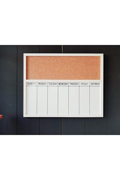 LAMONETA Checkday Duvar Notluk Beyaz / Pinli Beyaz Yazı Tahtalı Duvar Yazı Tahtası