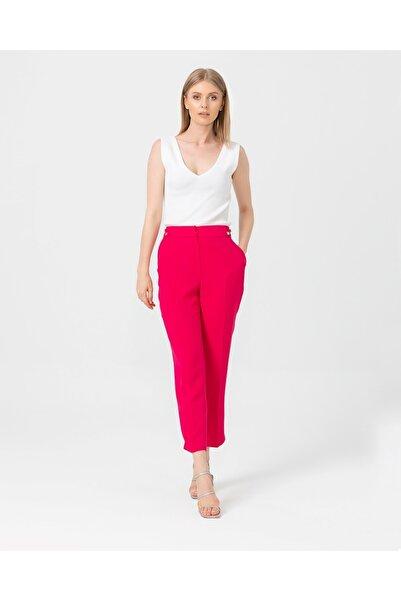 SEÇİL Klasik Kesim Orta Bel Pantolon - Fuşya