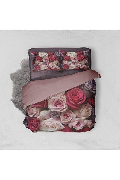 Minteks Roses Çift Kişilik 3d Nevresim Takımı