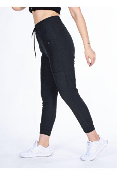 Vision Kadın Siyah Düğmeli Cep Detaylı Pantolon