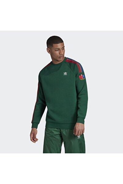 adidas Erkek Yeşil Spor Sweatshirt