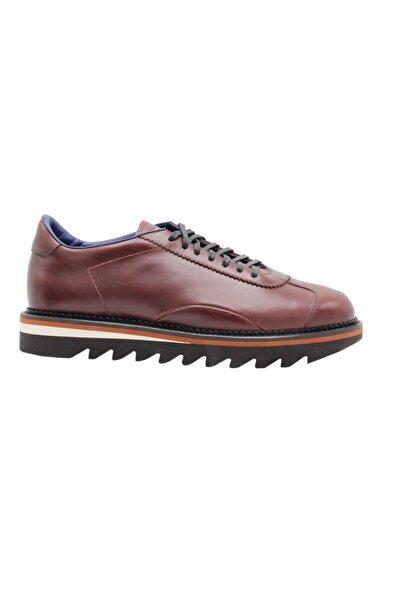 ALBERTO GUARDIANI Sneaker France Erkek Bordo Hakiki Deri Ayakkabı
