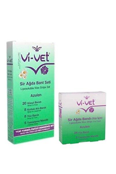 Vi-vet Azulen Yüz Ve Vücut Ağda Bantı 2'li
