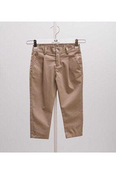 Monna Rosa Erkek Çocuk Bej Pileli Pantolon