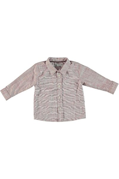 Monna Rosa Erkek Çocuk Bordo Gömlek
