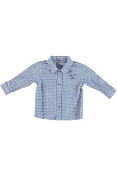 Monna Rosa Mavi Erkek Çocuk Kareli Gömlek