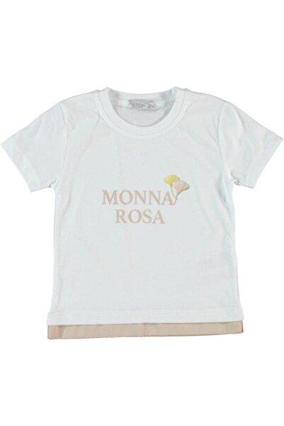 Monna Rosa Erkek Çocuk Beyaz  T-shırt