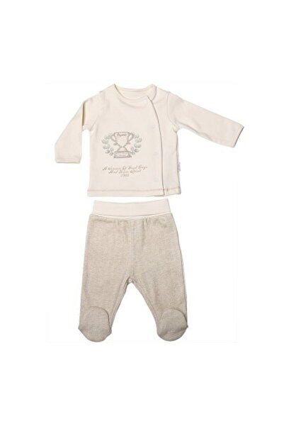 kitikate Erkek Bebek Organik 2'li Takım - Bebek Doğum Hediyesi