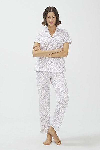 Penti Optik Beyaz Lilac Mommy Pijama Takımı