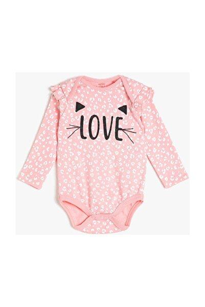 Koton Kız Bebek Pembe Desenli Bebek Body & Zıbın 0KNG11211OK
