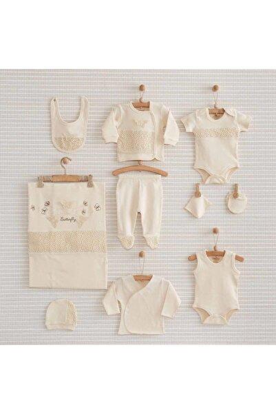 Nenny Baby Butterfly Organik Kız Bebek Hastane Çıkışı 10 Parça Bebbek