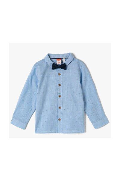 Koton Kids Mavi Erkek Bebek Gömlek