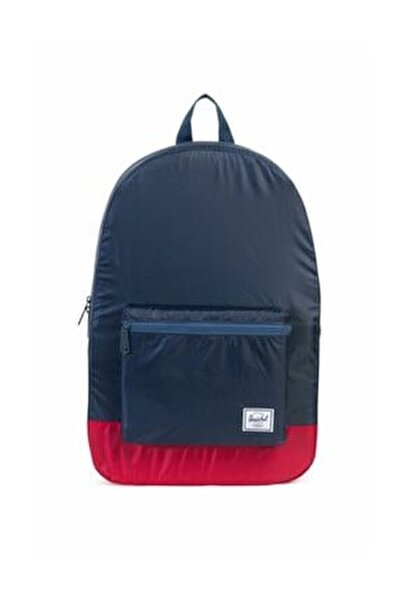 Herschel Katlanır Sırt Çantası Packable Daypack Navy/Red