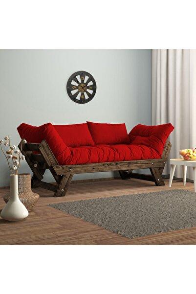Woodesk Adalar Modern Ceviz Renk Ahşap Kanepe CPT8114-210