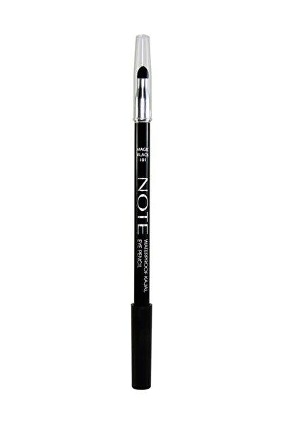 NOTE Suya Dayanıklı Kajal Siyah Göz Kalemi - Waterproof Kajal Eye Pencil 8680705347017