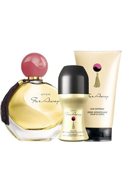 AVON Far Away Kadın Parfüm Rollon Ve Vücut Losyınu Seti