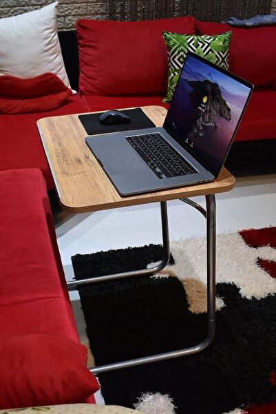 Depolife Ceviz Laptop Notebook Masası 3 Kademeli
