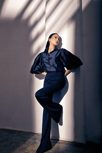 Siren Ertan ISTANBUL Kadın Siyah Triko Pantalon