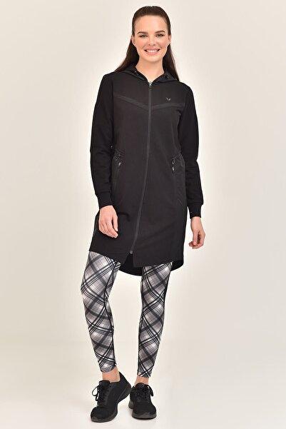 bilcee Siyah Kadın Uzun Ceket GS-1522