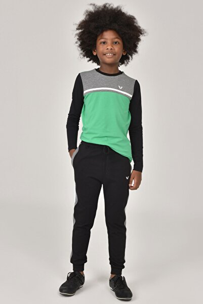 bilcee Yeşil Unisex  Uzun Kol Çocuk T-Shirt FW-1487