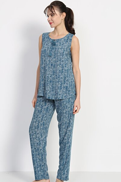 VİENETTA Kadın Mavi  Pijama Takım