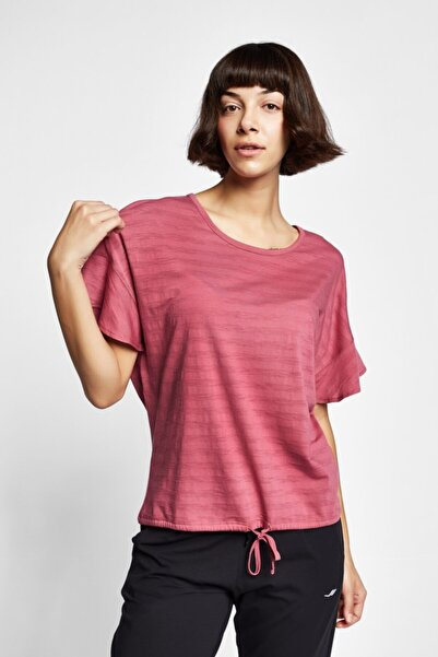 Lescon 19Y-2161 Gül Kurusu Kadın Kısa Kollu T-Shirt