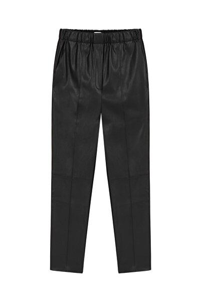 Twist Kadın Siyah Deri form pantolon TW6200003081