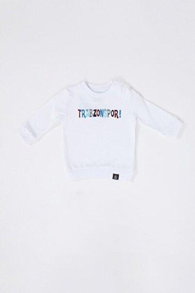 TSCLUB Unisex Bebek Beyaz  Trabzonspor Baskılı Sweatshirt
