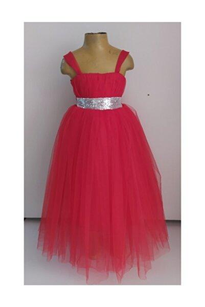 KT PERA BABY Kız Çocuk Kırmızı Uzun Elbise