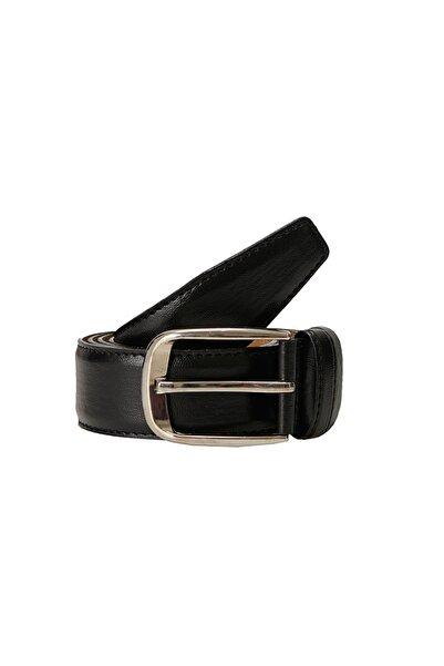 ALTINYILDIZ CLASSICS Erkek Siyah Klasik Düz Takım Elbise Kemeri