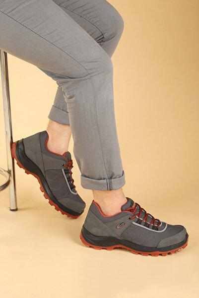 Scooter Erkek Gri Bağcıklı Hakiki Deri Ayakkabı