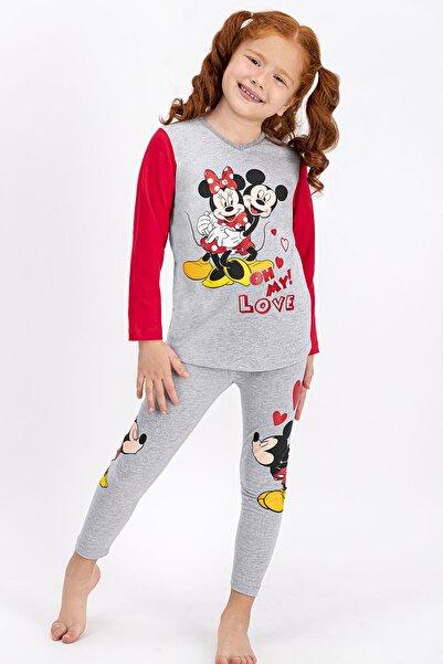 Minnie Mouse Lisanslı Grimelanj Kız Çocuk Tayt Takım 4401