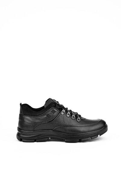 Uniquer Erkek Siyah Hakiki Deri Ayakkabı 103109u 2260