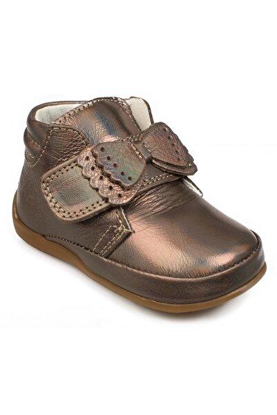 Vicco Kız Çocuk Bronz İlk Adım Deri Ayakkabı