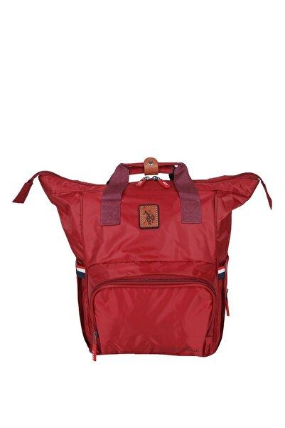 U.S. Polo Assn. Kadın Kırmızı Çift Kulplu Bebek Bakım Çantası Plabç20219