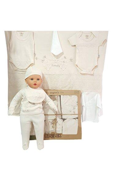 bebegen Organik 10 Parça Hastane Çıkış Seti Kelebekli