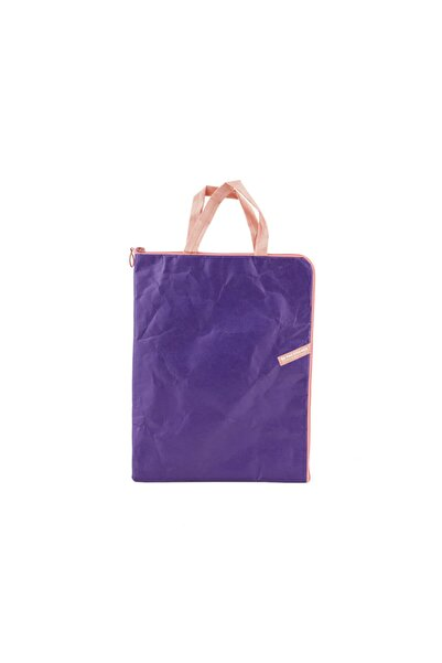 Chumac Yırtılmayan Tyvek Kağıt Dikey Bilgisayar Çantası Violet Btc 28*36 Cm