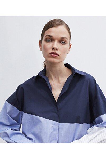 İpekyol Kadın Mavi Renk Geçişli Gömlek
