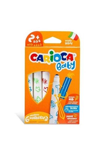 CARIOCA Renkli Baby Süper Yıkanabilir Jumbo Keçeli Boya Kalemi 6'lı