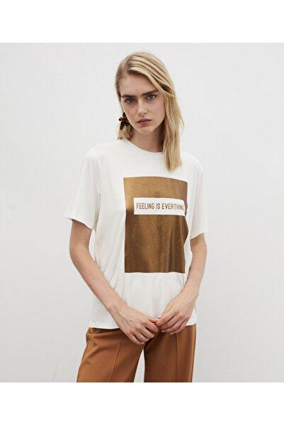 İpekyol Kadın Slogan Baskılı Tshirt