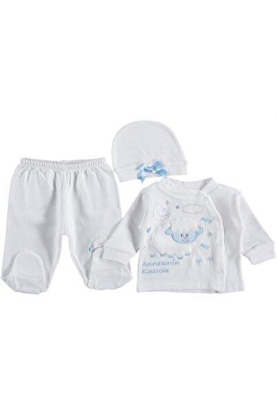 WD Unisex Bebek Annesinin Kuzusu Yazılı Ekru Takım